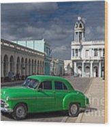 Cuba Green  Wood Print