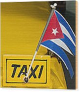 Cuba Taxi Wood Print by Norman Pogson