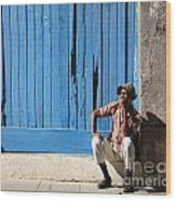 Cuban Man And His Cigar Wood Print