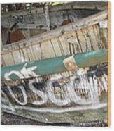 Cuban Refugees Boat 2 Wood Print