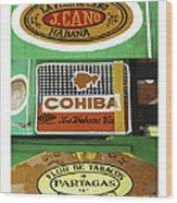 Cubanos Wood Print