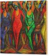 Cubism Dance  Wood Print