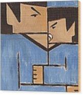 Cubism Spock baby Spock Art Print Wood Print