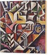 Cubist Cityscape, 1914 Wood Print