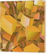 Cubist Melon Burst By Jammer Wood Print