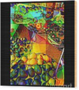 Fruit Collage Mini-print Wood Print