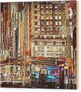 Grand Central And 42nd St Wood Print