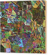 Night Market - Outdoor Markets Of New York City Wood Print