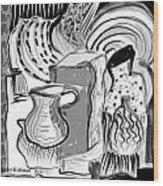 Cubist Still Life Wood Print