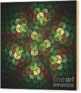 Cubix Wood Print