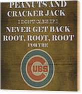 Cubs Peanuts And Cracker Jack  Wood Print