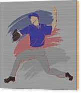 Cubs Shadow Player Wood Print