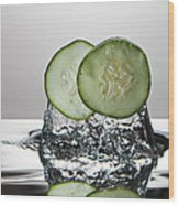 Cucumber Freshsplash Wood Print
