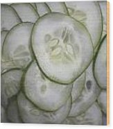 Cucumber Wood Print
