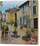 Cucuron In Provence Wood Print