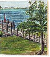 Cudjoe Dock Wood Print