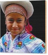Cuenca Kids 314 Wood Print