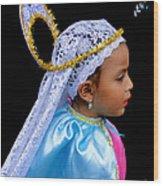 Cuenca Kids 363 Wood Print by Al Bourassa