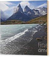 Cuernos Del Paine Patagonia 3 Wood Print