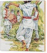 Cultural Dance Of Afghanistan Attan Wood Print