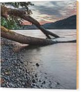 Cultus Lake Sunset Wood Print