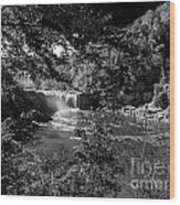 Cumberland Falls Black And White Wood Print