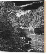 Cumberland Falls Seven Bw Wood Print