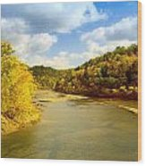 Cumberland River Wood Print