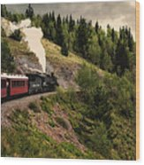 Cumbres And Toltec Train Co And Hm Wood Print