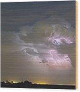 Cumulonimbus Cloud Explosion Wood Print by James BO  Insogna