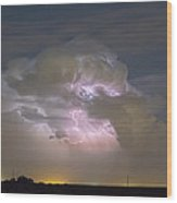 Cumulonimbus Cloud Explosion Portrait Wood Print by James BO  Insogna