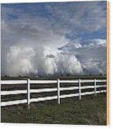 Cumulus Clouds Over Stockton Wood Print