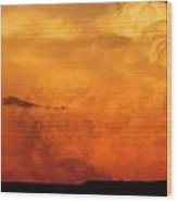 Cumulus Congestus Sunset Wood Print