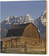 Cunningham Cabin Grand Tetons Wyoming Wood Print