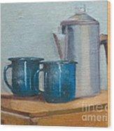 Cup A La Joes Wood Print