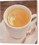 Espresso In White Wood Print