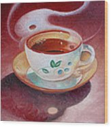 Cup Of Tea Wood Print