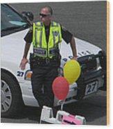 Cupcake And Balloon Checkpoint Wood Print