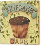 Cupcake Cafe Wood Print