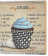 Cupcake Masterpiece Wood Print by Catherine Holman