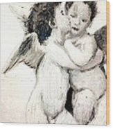 Cupid And Psyche By William Bouguereau Wood Print