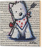 Cupid Westie Wood Print by Kim Niles