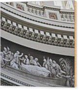 Cupola Border - Capitol Washington Dc Wood Print