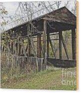 Cuppet's Covered Bridge Wood Print