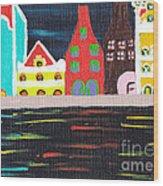 Curacao Blue  Wood Print