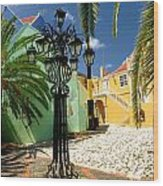Curacao Colorful Architecture Wood Print by Amy Cicconi