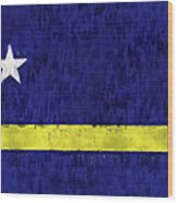 Curacao Flag Wood Print
