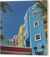 Curacaos Colorful Architecture Wood Print