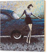 Curb Appeal Wood Print by Ned Shuchter