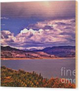 Curecanti Autumn Blue Mesa Colorado Wood Print